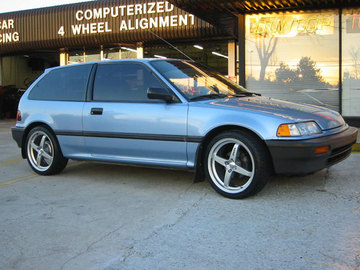Honda Civic with 17in Axis Maglite Wheels