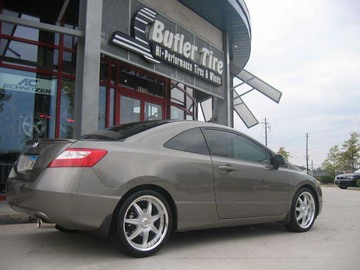 Honda Civic with 18in Axis Se7en Mod Wheels