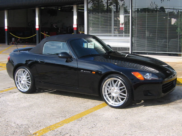 Honda S2000 with 19in Axis Mesh Wheels