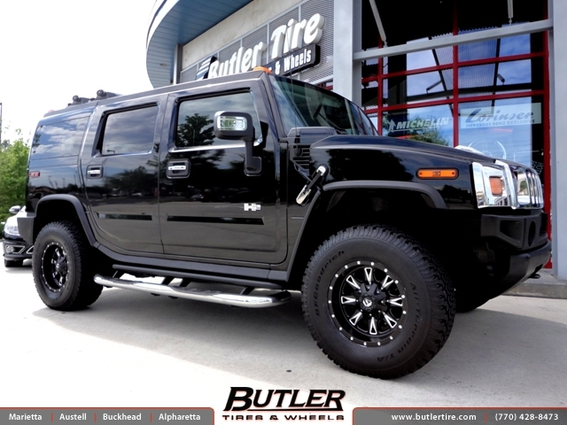 Hummer H2 with 17in Fuel Throttle Wheels