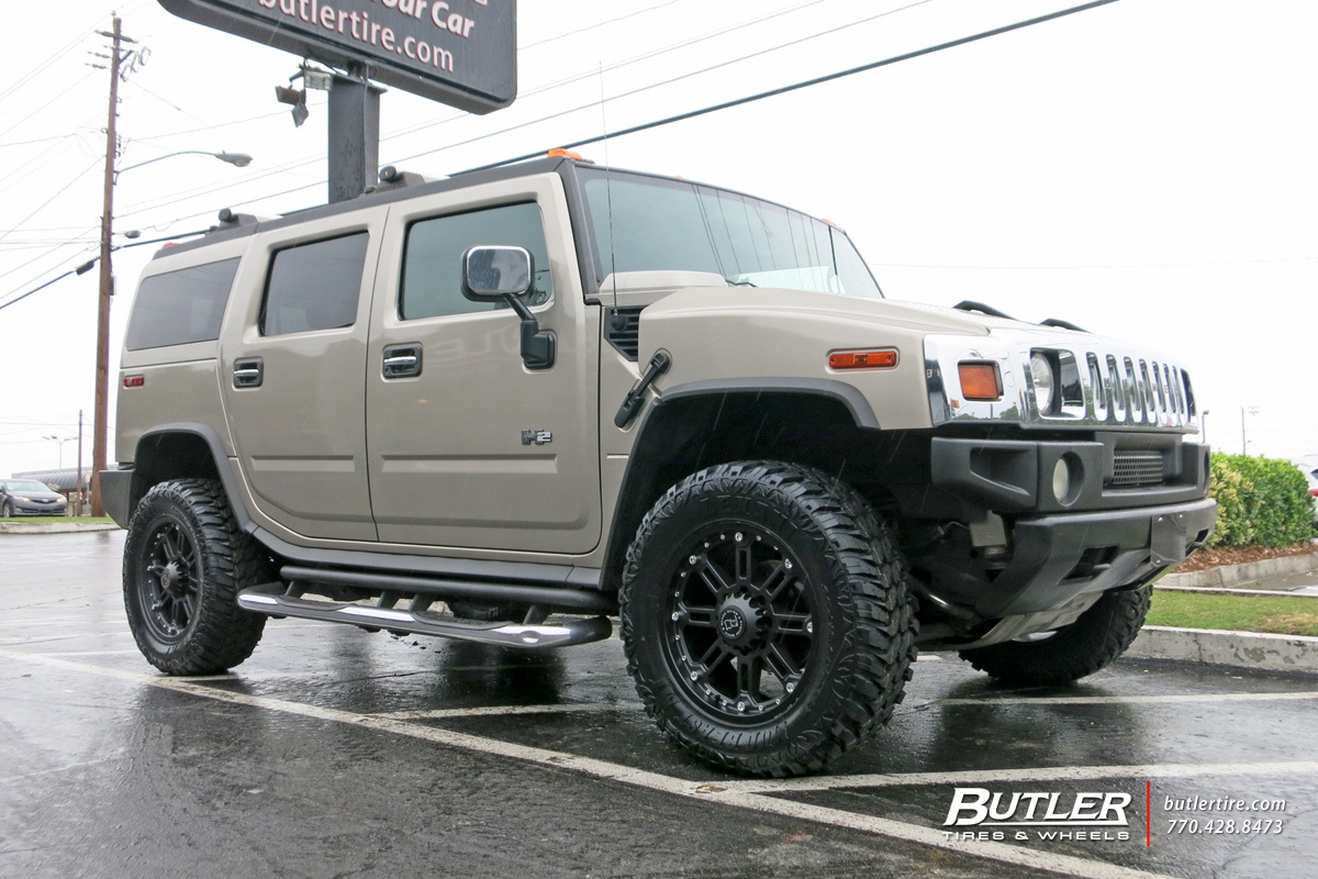 Hummer H2 with 20in Black Rhino Rockwell Wheels