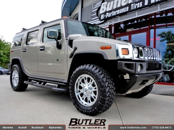 Hummer H2 with 20in Fuel Throttle Wheels