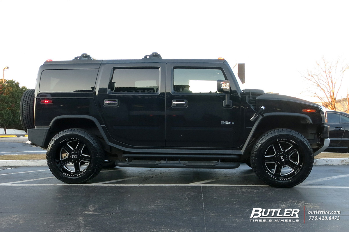 Hummer H2 with 22in Black Rhino Canon Wheels