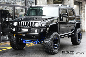 Hummer H2 with 22in Fuel Assault Wheels