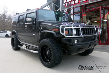Hummer H2 with 22in Fuel Hostage Wheels