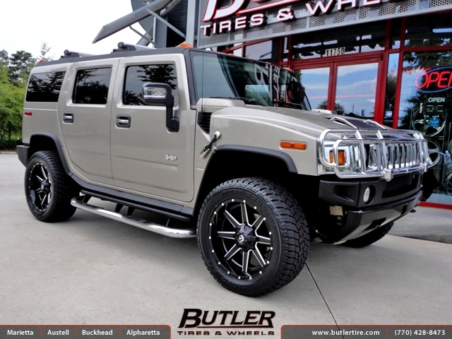 Hummer H2 with 22in Fuel Maverick Wheels