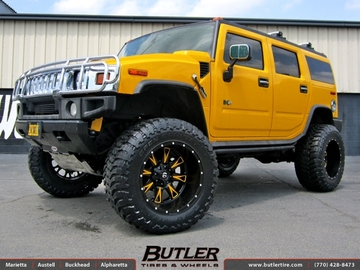 Hummer H2 with 22in Fuel Throttle Wheels