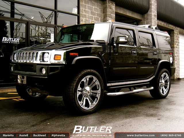 Hummer H2 with 24in XD Monster Wheels