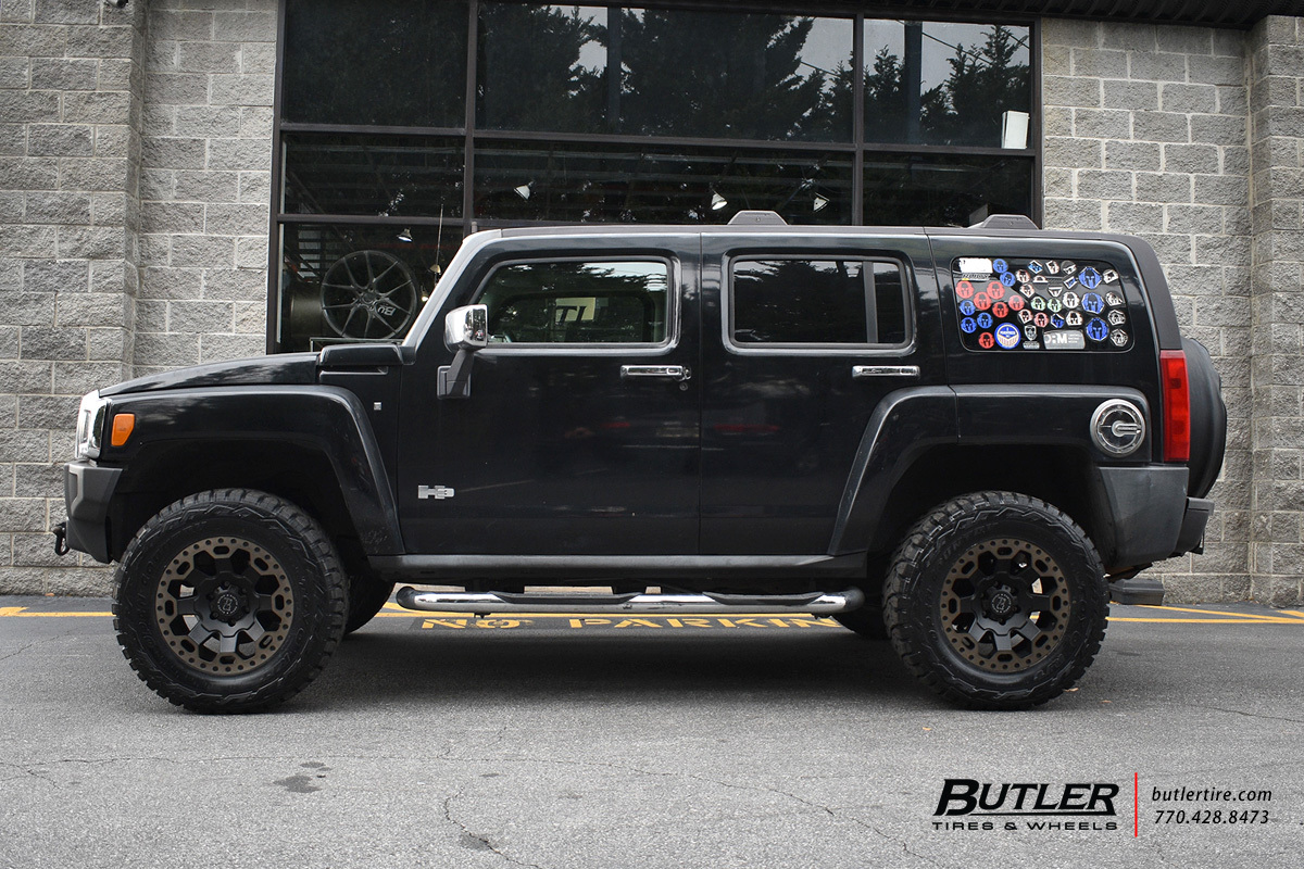 Hummer H3 with 18in Black Rhino Warlord Wheels