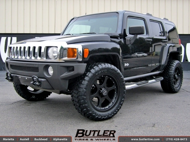 Hummer H3 with 20in Black Rhino Ocotillo Wheels