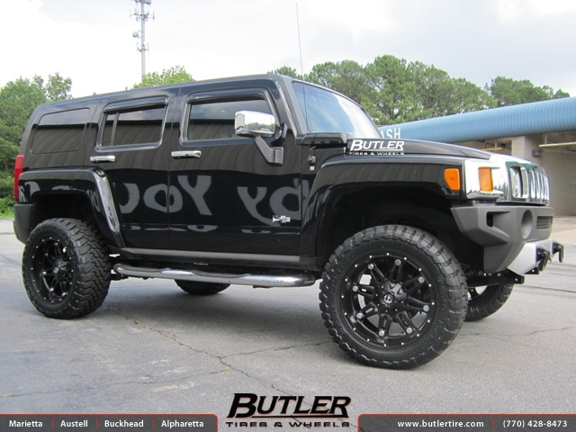 Hummer H3 with 20in Fuel Hostage Wheels exclusively from ...