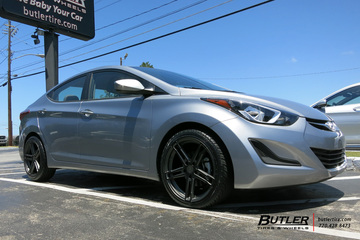 Hyundai Elantra with 18in TSW Mechanica Wheels