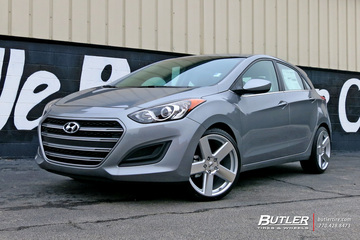 Hyundai Elantra with 19in TSW Bristol Wheels