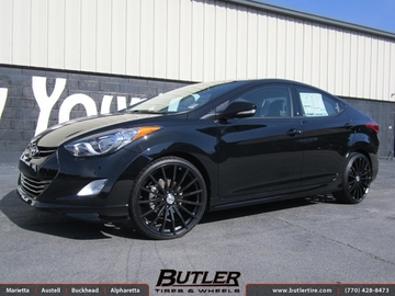 Hyundai Elantra with 20in TSW Mallory Wheels
