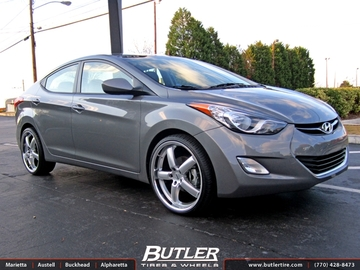 Hyundai Elantra with 20in TSW Stowe Wheels