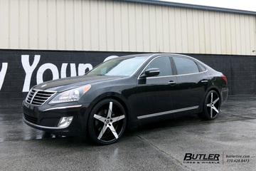 Hyundai Equus with 22in Lexani Invictus Wheels