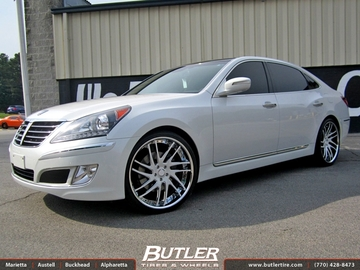 Hyundai Equus with 22in Savini SV49c Wheels