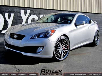 Hyundai Genesis with 20in Lexani CVX 44 Wheels