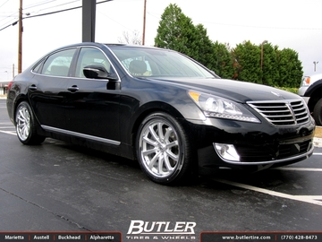 Hyundai Genesis with 20in Lexani CVX 55 Wheels