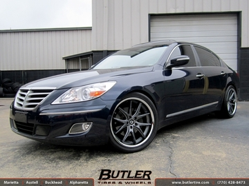 Hyundai Genesis with 20in Lexani R-Twelve Wheels