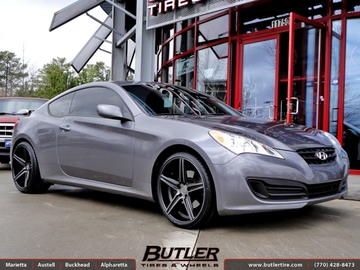 Hyundai Genesis with 20in Niche Apex Wheels