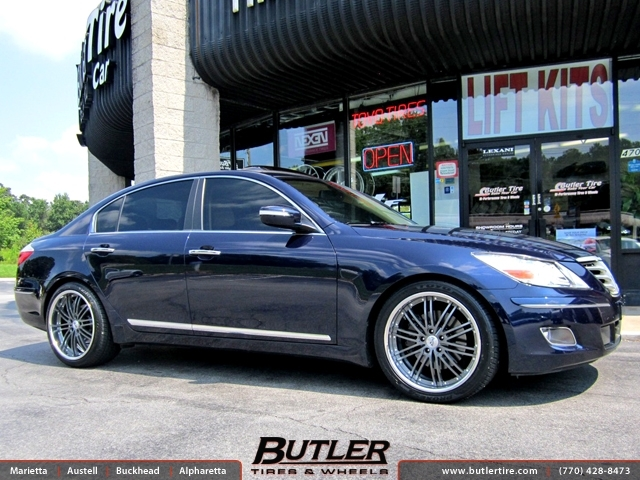 Hyundai Genesis with 20in Niche Touring Wheels