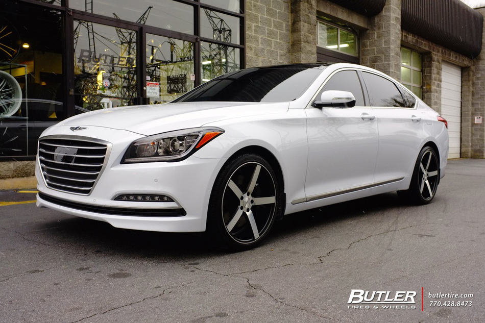 Hyundai Genesis with 20in Vossen CV3 Wheels exclusively ...