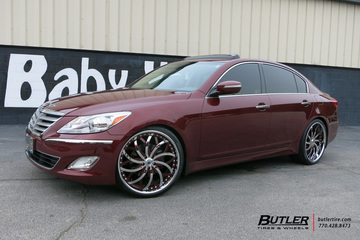 Hyundai Genesis with 22in Asanti AF812 Wheels