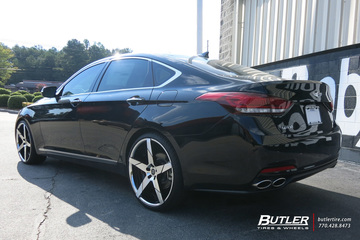 Hyundai Genesis with 22in Lexani Invictus Wheels