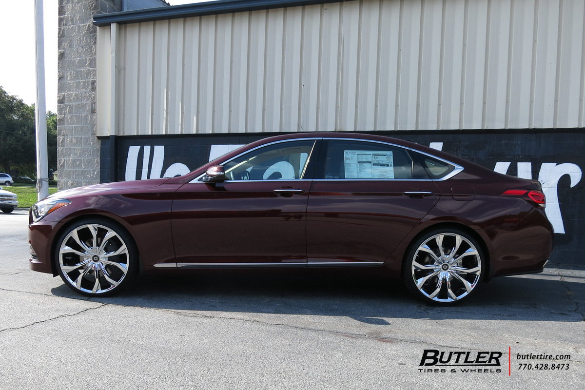 Hyundai Genesis with 22in Lexani Lust Wheels