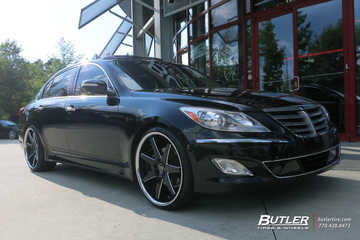 Hyundai Genesis with 22in Lexani R-Seventeen Wheels