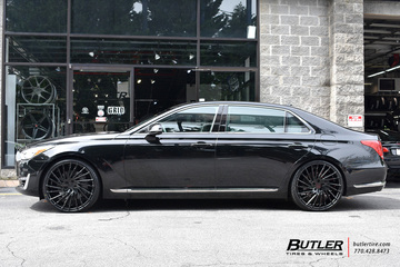 Hyundai Genesis with 22in Lexani Wraith Wheels