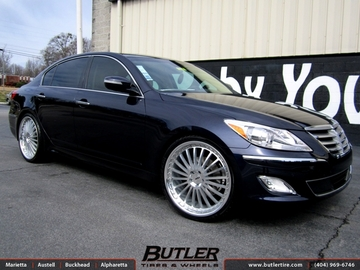 Hyundai Genesis with 22in TSW Silverstone Wheels