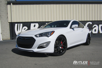 Hyundai Genesis Coupe with 19in Niche Targa Wheels