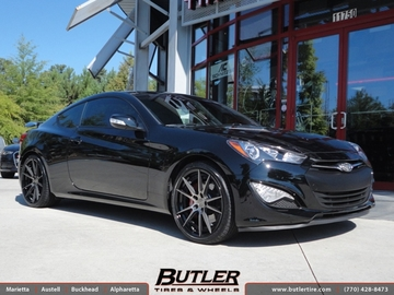 Hyundai Genesis Coupe with 20in Niche Grand Prix Wheels