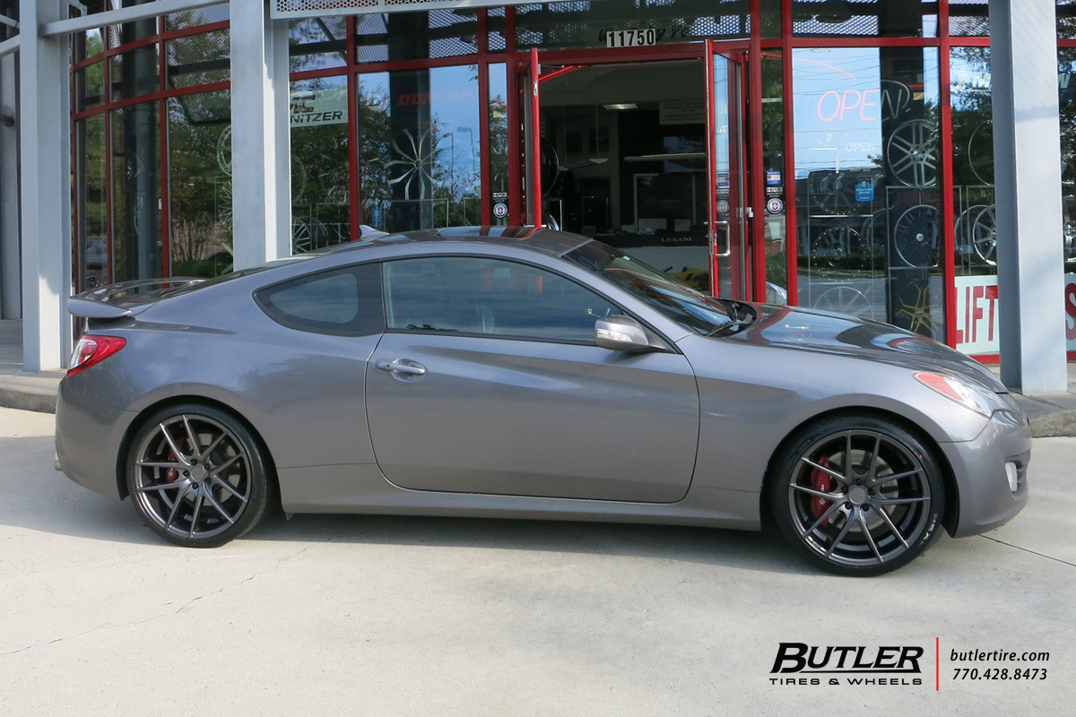 Hyundai Genesis Coupe with 20in Niche Targa Wheels ...