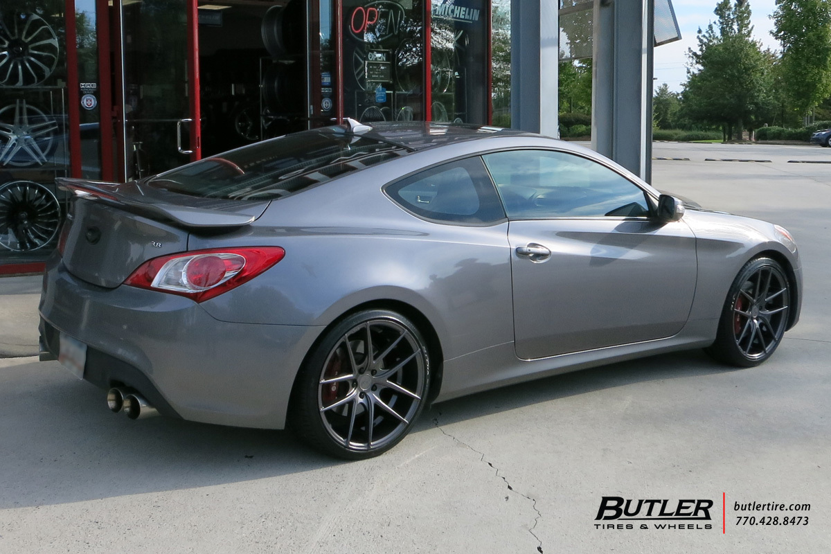 Hyundai Genesis Coupe with 20in Niche Targa Wheels