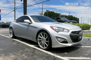 Hyundai Genesis Coupe with 20in Savini BM15 Wheels