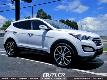 Hyundai Santa Fe with 22in Lexani LSS10 Wheels