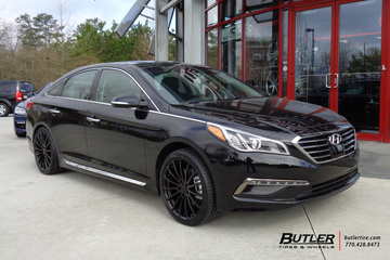 Hyundai Sonata with 19in TSW Mallory Wheels