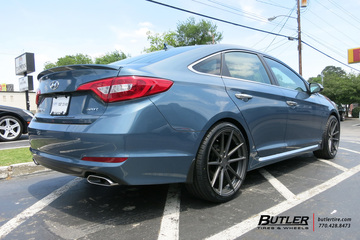 Hyundai Sonata with 20in TSW Bathurst Wheels