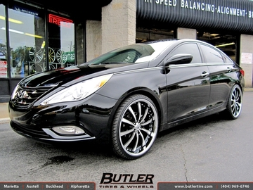 Hyundai Sonata with 22in Lexani LSS10 Wheels