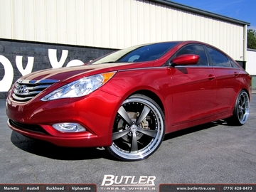 Hyundai Sonata with 22in TSW Strip Wheels