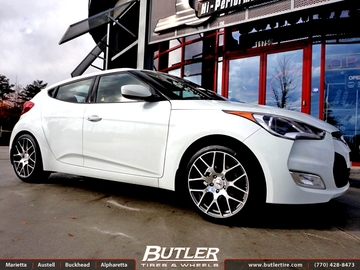 Hyundai Veloster with 18in TSW Nurburgring Wheels