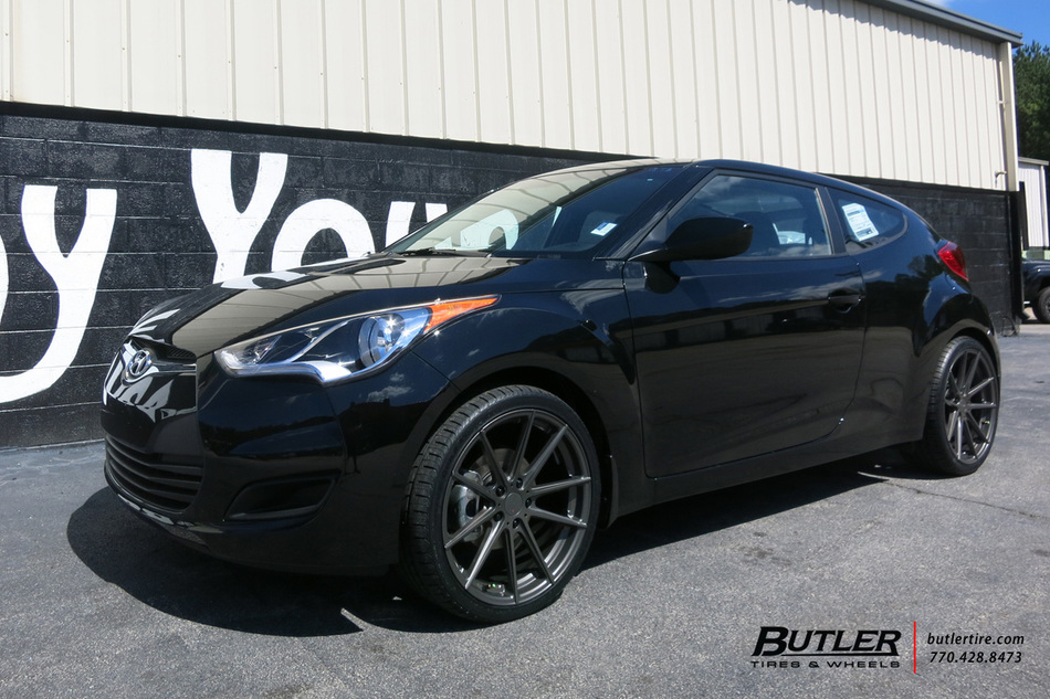 Hyundai Veloster With 19in Tsw Bathurst Wheels Exclusively