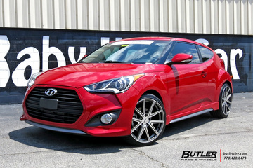 Hyundai Veloster with 19in TSW Rouge Wheels