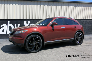 Infiniti FX35 with 22in Lexani Twister Wheels