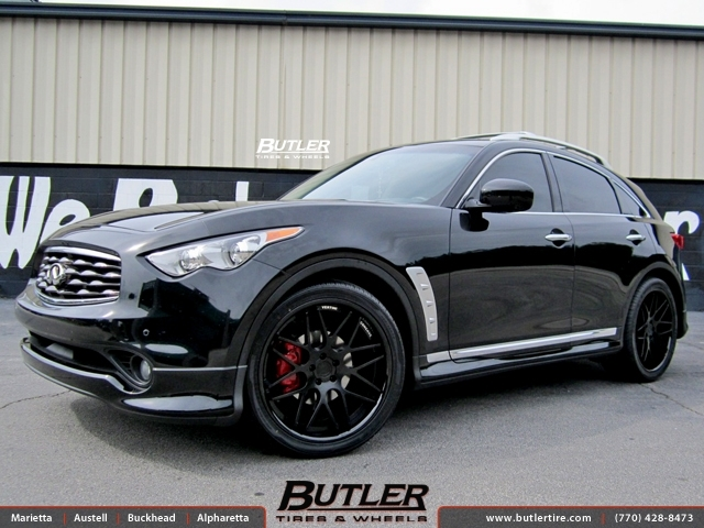 Infiniti FX35 with 22in Vertini Magic Wheels