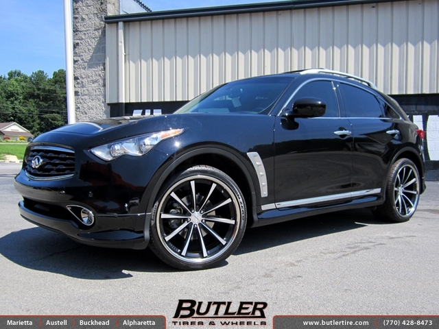 Black Honda Accord Rims >> Infiniti FX35 with 22in Vossen CV1 Wheels exclusively from Butler Tires and Wheels in Atlanta ...