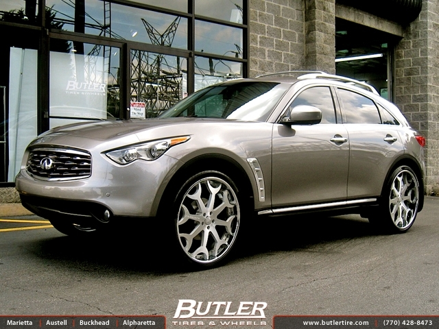 Infiniti FX35 with 24in Forgiato Capolavaro Wheels